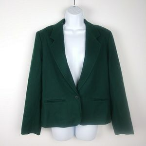 Pendleton Emerald Green Wool Blazer Size 12